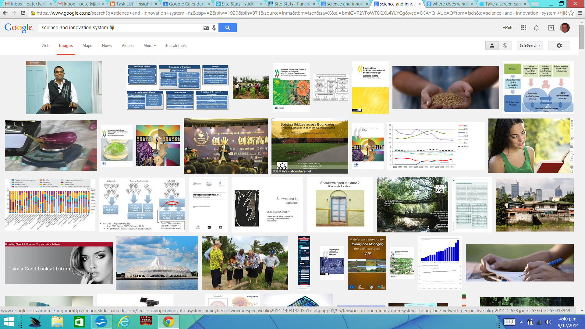 Google screenshot, science and innovation system, Fiji